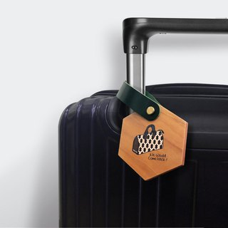 Wooden luggage tag The meaning of traveling