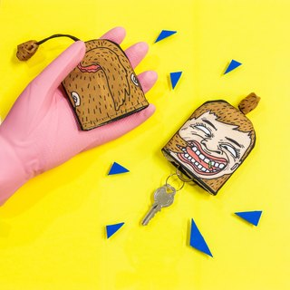 【Key storage bag- tooth Food residue girl】MKAC