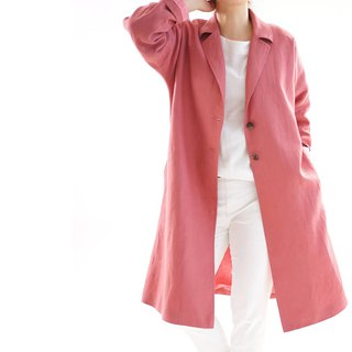 Linen coat / warm linen / chesterfield coat / tailored coat / outerwear