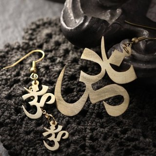 Large and Small Ohm Earrings by Defy - Ohm Symbol Handmade Earrings - Jewelry.