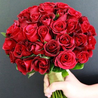 Blooming flowers - [commercial combination] exquisite flower bouquet & boutonniere red B-AR02