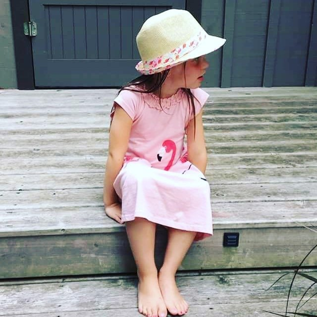 【Canadian Brand】Organic Cotton Dress/Child-Flamingo