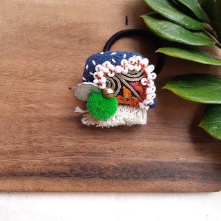 DUNIA handmade /colorful Hmong / Miao embroidery national wind hair ring-10
