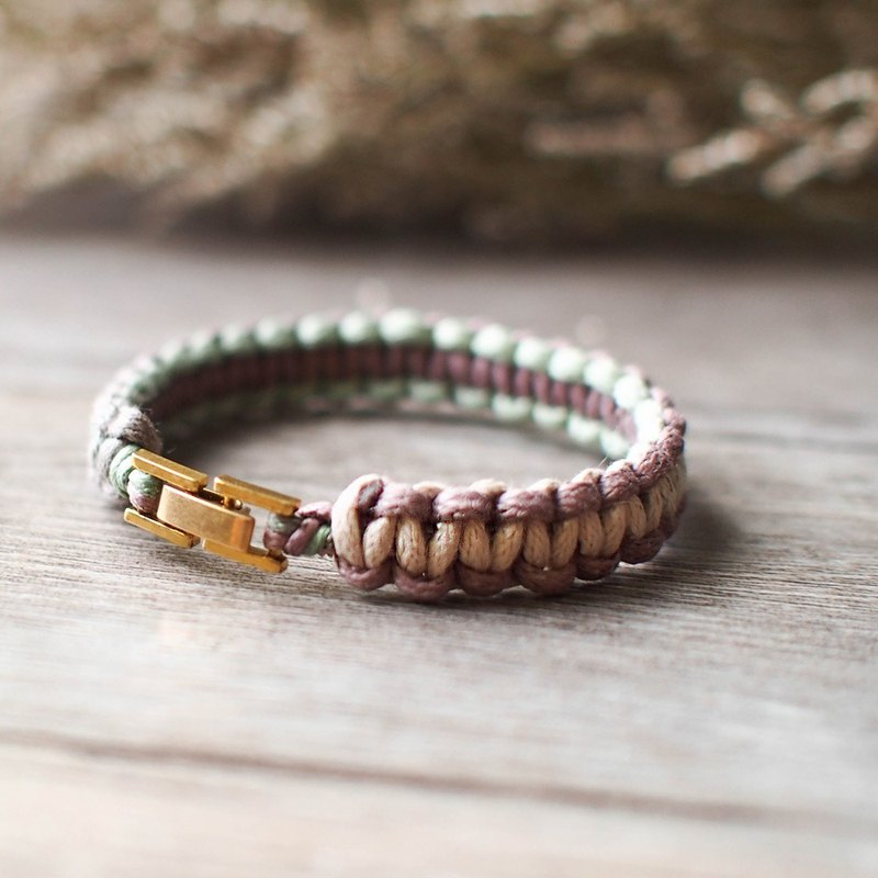 LIULIUYA [Forest - crude] section of the forest dyed braided bracelet - rough -