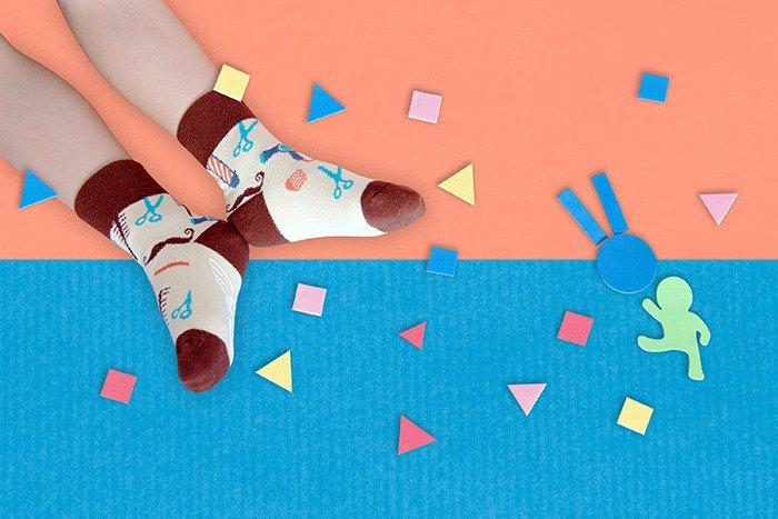 【快速出貨/免運】迷你髮廊防滑4分之3童襪│質感禮盒包裝
