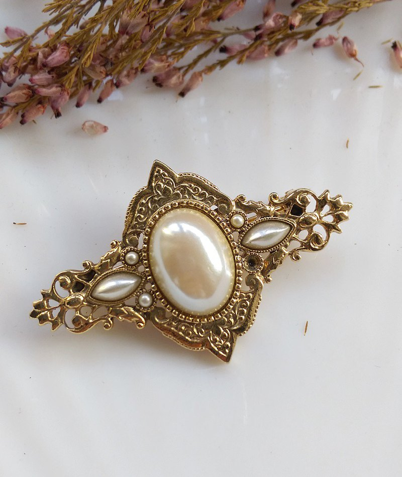 [Western antique jewelry / old age] 1928 romantic and elegant Victorian pearl pin