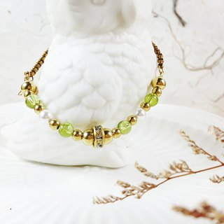 Beverly Expectation Classic - Bracelet Peridot Pearls Brass