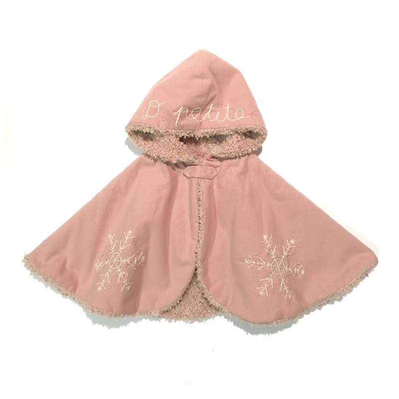 Snowy BABY cape   Pink