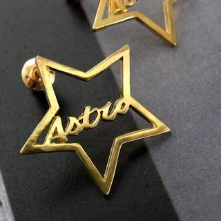 【Resale】 Line Star Earrings / brass
