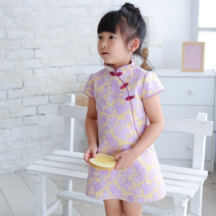 Pink purple mysterious cheongsam
