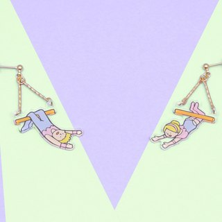 trapezist earrings