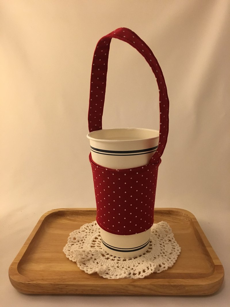 Small red waltz drink cup bag