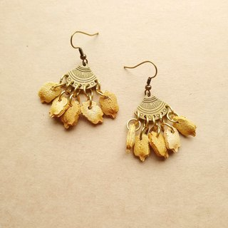 No.3 bitter gourd natural seed handmade earrings