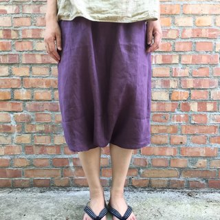 Pure linen Japanese Fuji type pocket pants strict selection of 20 color linen