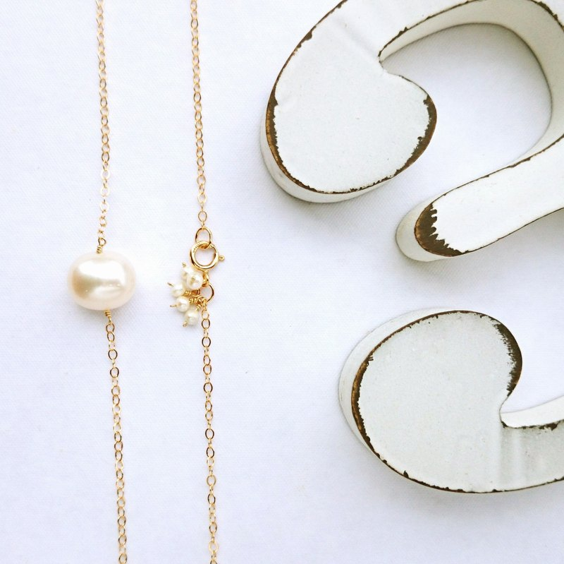 OUTLET*14kgf Japanese BIG pearl bubble necklace