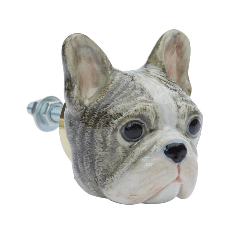 And Mary Grey Frenchie Doorknob | Gift Box