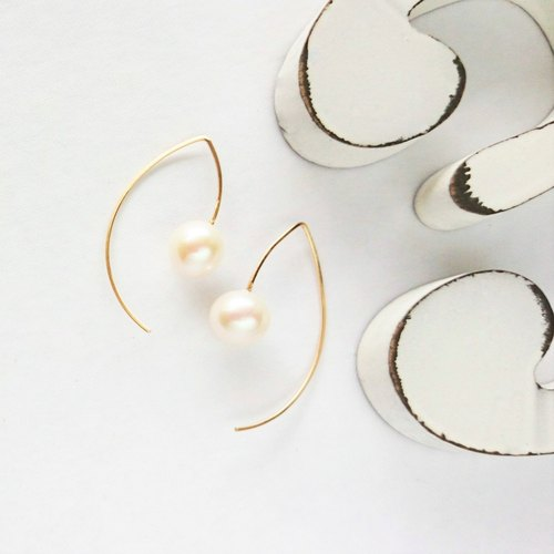 14 kgf * fine quality AAA big round pearl marquis pierce ear needle