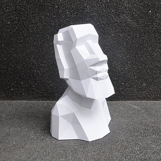 3D paper model _ calm Moai like _DIY Kits_ hand-made combination