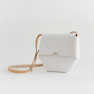 Blanc JOYDIVISION white tanned leather heart-shaped hand-bags saddle bag female shoulder messenger handbag