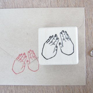 "Handmade rubber stamp ""Hold down"""