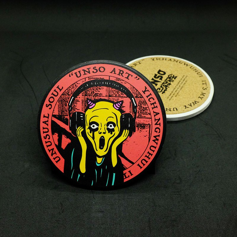 UNSO Anomaly Club original ceramic coaster-shout
