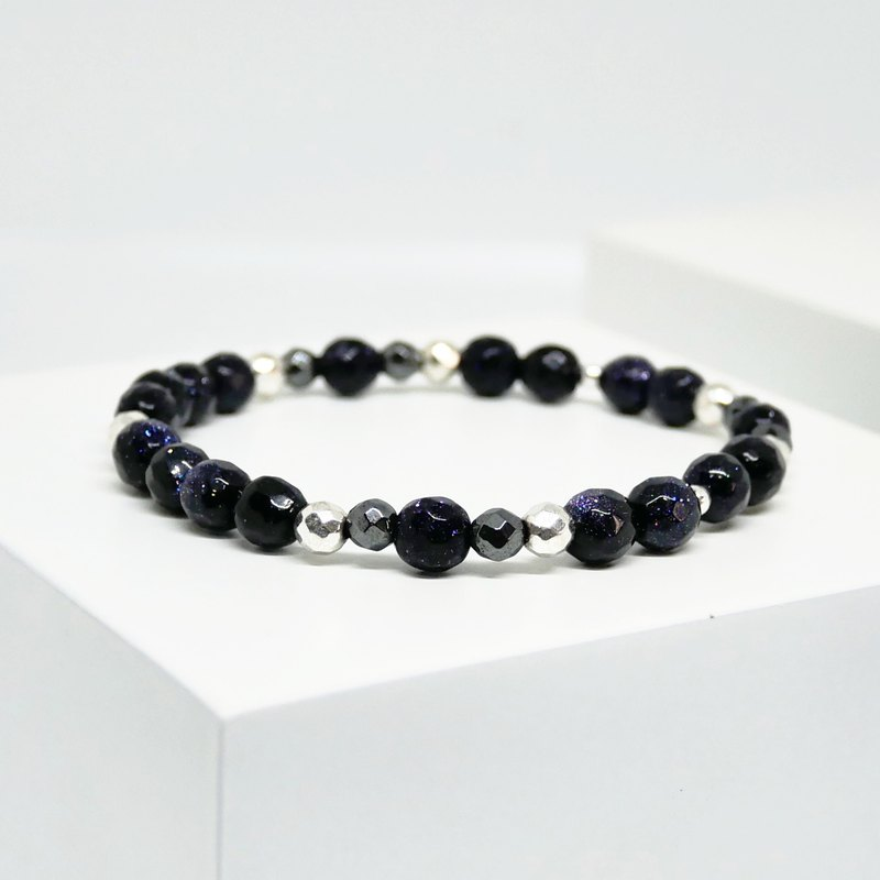 VSNS | Stardust Shards - Geometric Blue Sandstone Natural Stone Star Beads Bracelet Girls Bracelet