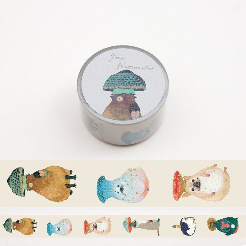 Mushroom Animals | Handmade Watercolor | Washi Tape | Sticker | Masking Tape