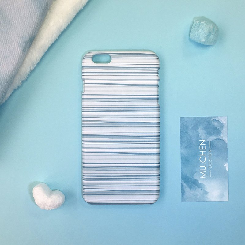 Blue watercolor stripes (iPhone.Samsung Samsung, HTC, Sony. ASUS mobile phone case cover)