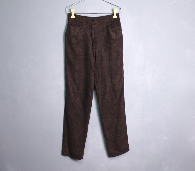 FOAK vintage thick brown pocket trousers