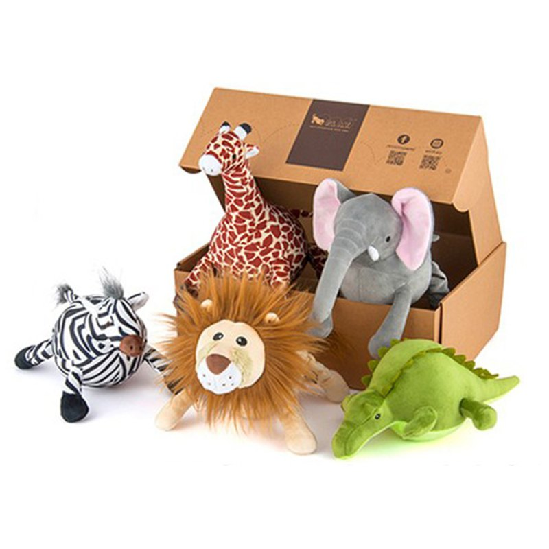 Pet Toy Dog Safari Gift Box Beep 5 Pieces