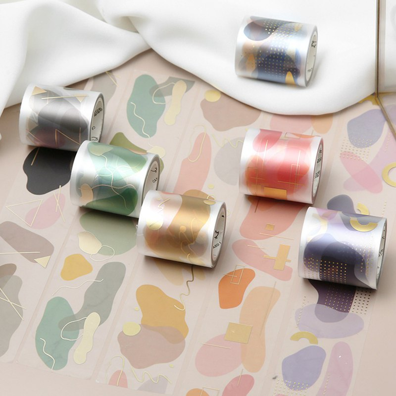Letter of lovers and paper tape fruit hard candy matte PET four-color hot stamping cute color material hand account tool