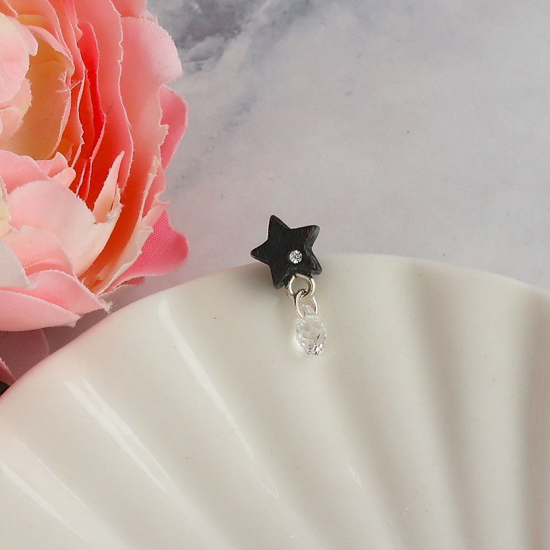 Star wooden earring ( 925 sterling silver studs) one per purchase