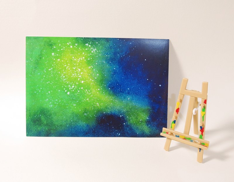 Quietly painted cool card / multifunctional storage postcard / green explosion