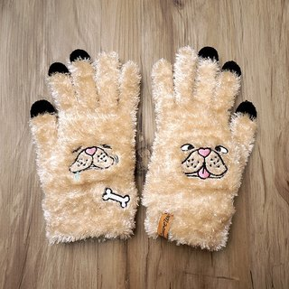 Cream France touch gloves