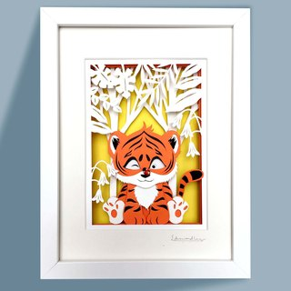 3D Layered Paper Cutting  Animal Series - Tiger
