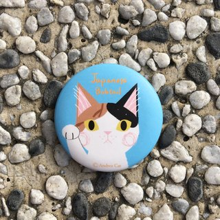 Big Head Cat Badge - Japanese Bobtail Japanese Bobtail