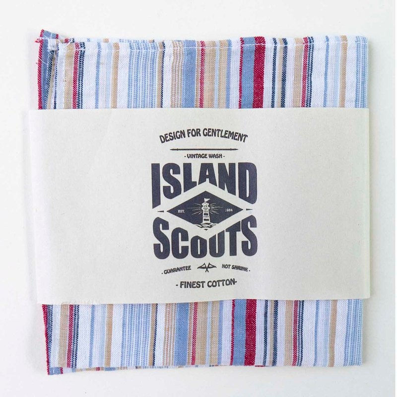 Pocket Square - Rainbows Stripes Cotton Linen
