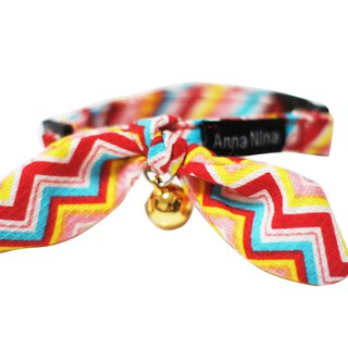 [AnnaNina] pet cat collar Rainbow ECG Kelly towel S~M