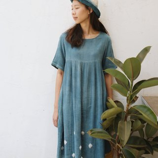 Natural Indigo dyed | double cotton dress