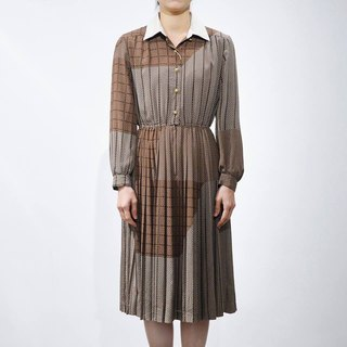 """Vintage dress"" brown biscuits VD150"