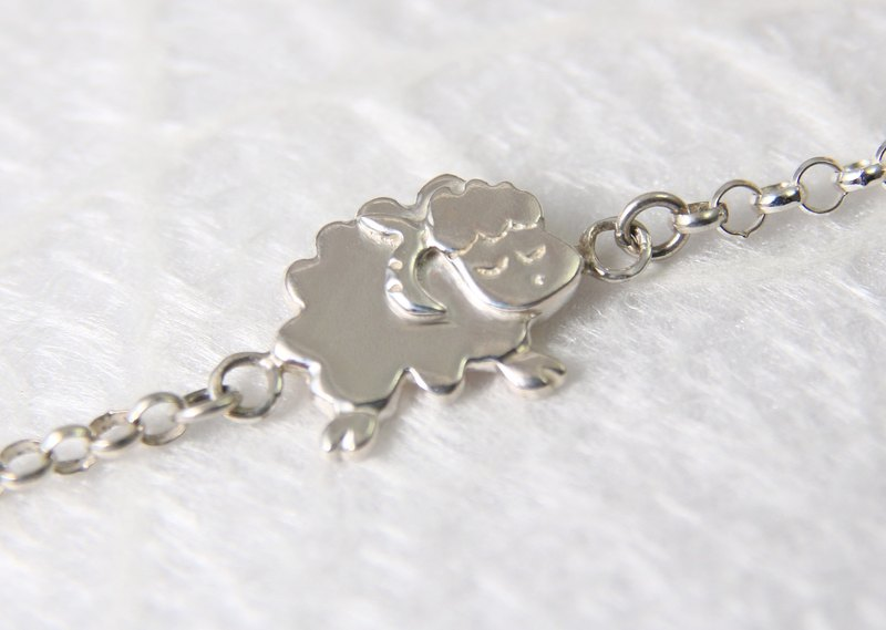 <Engraving Accepted> Sterling Silver Bracelet / Aries / Sheep