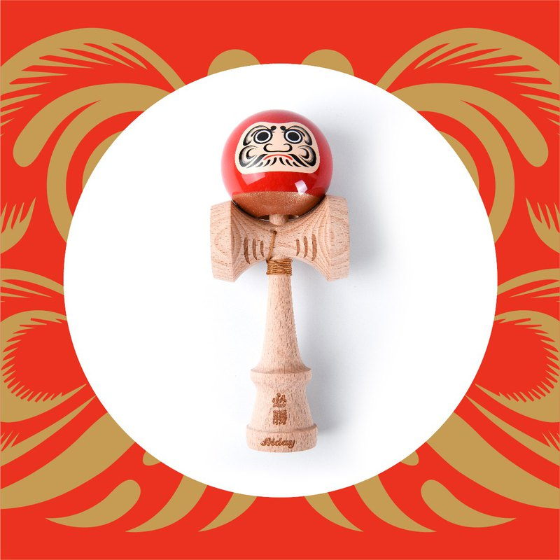 Hong Kong Friday Kendama Dharma series red must win sticky paint lion sword jade