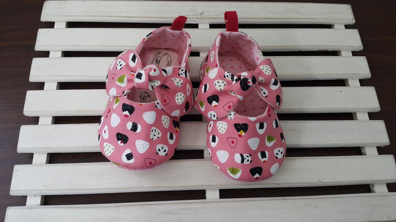 Animal rice ball girl baby toddler shoes (12cm) 【SB171203】