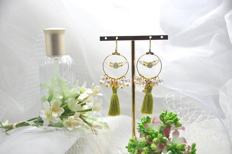 茉莉的假期_茉莉公主的綠/ 手作耳環 - 設計館 Little Little Handmade - 耳環,耳夾 ...