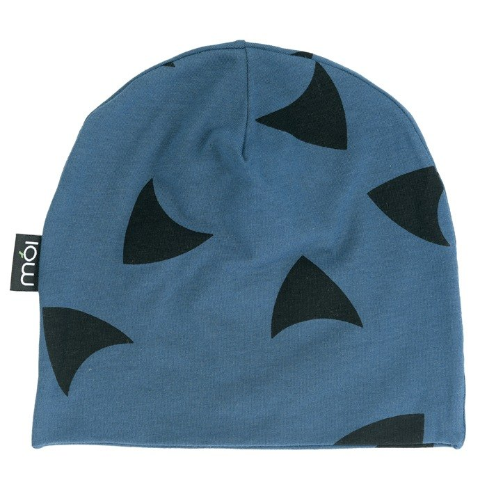 [Nordic children's clothing] Iceland organic cotton double-sided hat 4 years old -8 years old dark blue