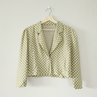 [Grass green] ancient - short coat