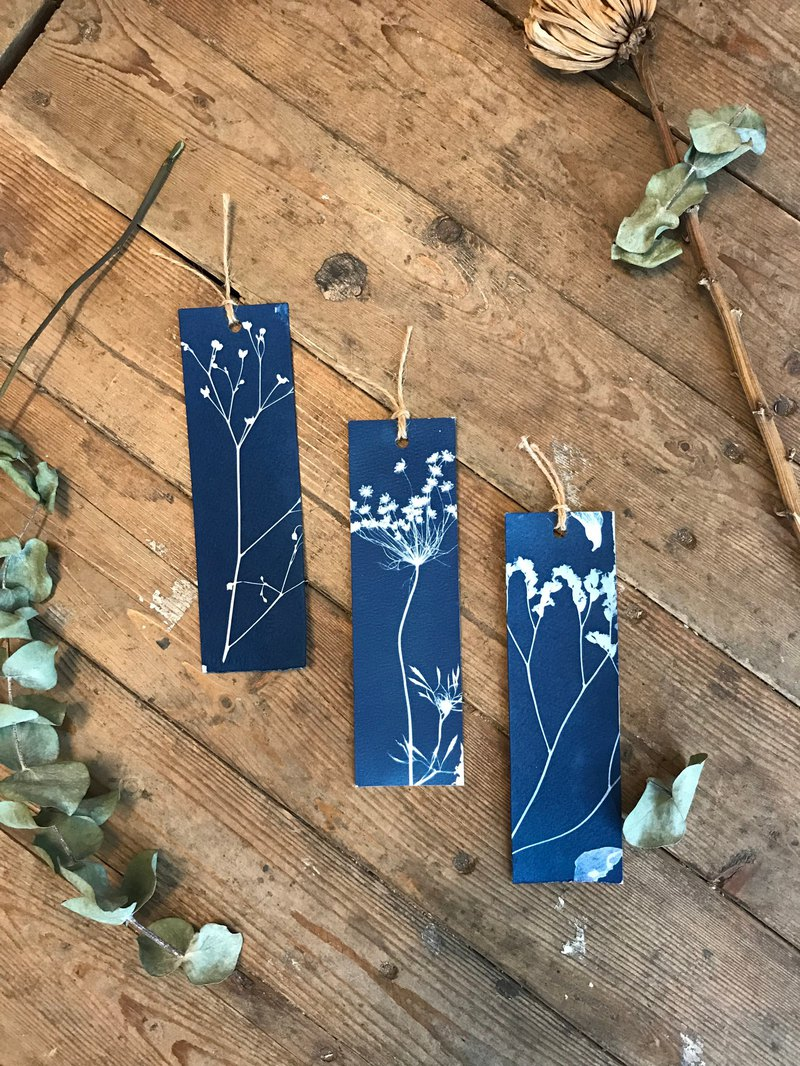 S. Chi Li Cyanotype Bookmark (Root)