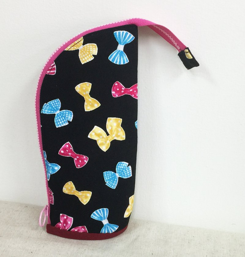 Pencil case - black bow - small