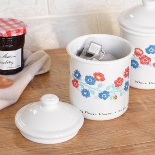 CB Japan Nordic Series Storage Tank - Flower Color White