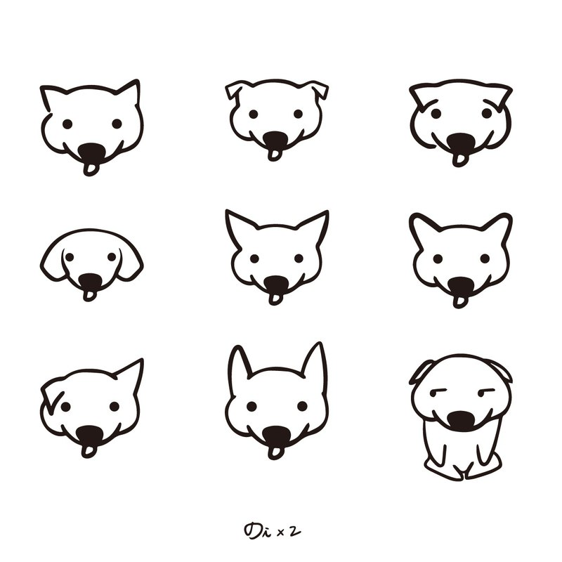 Various ears / original tattoo stickers / 1 into 9